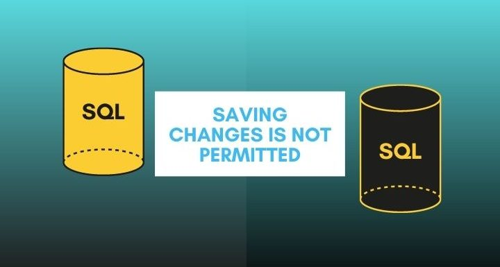 Saving changes is not permitted